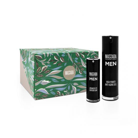 Christmas box Massada voor mannen eye contour - high power gel