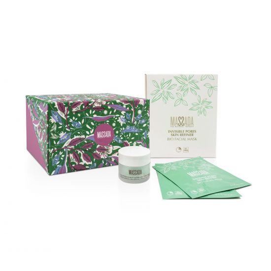 Christmas box massada voor de oily en acne huid, masker en creme