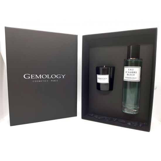 Giftbox Eau d'Ambre Bleue & Candle - Gemology