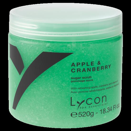 LYCON olie vrije  Apple & Cranberry Sugar Scrub