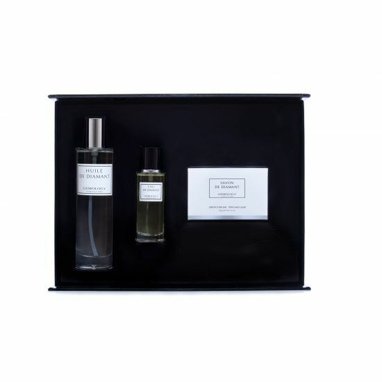 GEMOLOGY Diamand soap, eau de parfum en body oil
